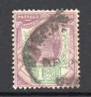 GB = QV 1887 1-1/2d Jubilee stamp, SG198. Used. (02.18.02)