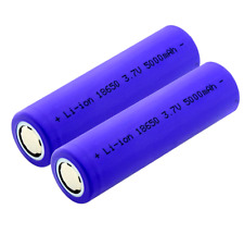 ⚡⚡⚡-Spécial french day-2 X 18650 - 5000 mah Batteries accus PRO lithium-ion ⚡ ⚡⚡