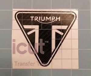 Triumph Decal / Sticker 6D Carbon Fibre Vinyl