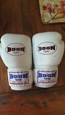 Boon Muay Thai Leather Boxing Gloves 12oz used