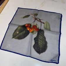 Grey Cherry Stenstroms Pocket Square Wool & Silk NWT