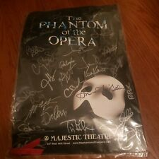 Rare 1986 Phantom Of The Opera Majestic Theatre Autographed Poster of Cast!