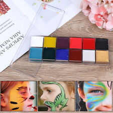 12 Colors Face Body Paint Oil Painting Art Make Up Tool Set Halloween Party K3C