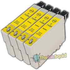 4 Yellow T0714 non-OEM Ink Cartridge For Epson Stylus SX210 SX215 SX218 SX400
