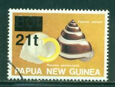 PAPUA NEW GUINEA 864 SG734 Used 1994 21t on 80t Snail Shell Overprint Cat$4