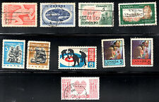 stamps CANADA A229 A230 A232 A243 A244(2) A245 A255(2) A287 LOT