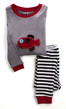 "MIDA Boys ""Fishman"" Crochet Applique Cotton Pyjama PJ Set - Size 1,2,3,4,5"