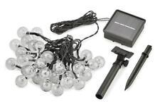 10 case Radiance LED Clr Solar String Lights,19.7 ft, Black, Crystal Globe Bulb