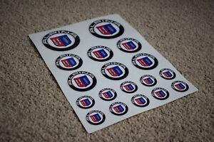 ALPINA BMW M3 M4 Car Racing Alloy Wheel Boot Bonnet Badge Emblem Decal Stickers