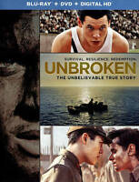 Unbroken (Blu-ray/DVD, 2015, 2-Disc Set, Includes Digital Copy UltraViolet)