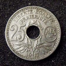 25 centimes 1917 souligné  /  la plus rare !!!
