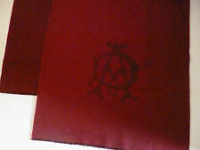Dunhill mens 100% cashmere scarf burgundy NEW winter wool luxury