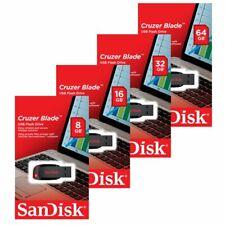 Sandisk 8GB/16GB/32GB/64GB SDCZ50 Blade Flash Drive USB 2.0 Speicherstick AUG