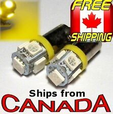 2x BA9S (T4W) Type YELLOW/AMBER LED Bulbs - 5x5050 Chips - 12v