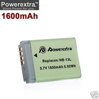 NEW Li-Ion 3.7V 1600mAh NB-13L Battery for Canon PowerShot G5X G7X G9X