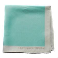 Frederick Thomas 100% soie turquoise Poche Carré mouchoir FT1667