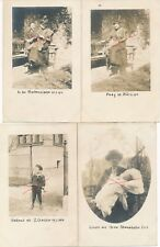 Nr.19422 4x Privat Foto PK schöne Frauen + Kinder   um 1914