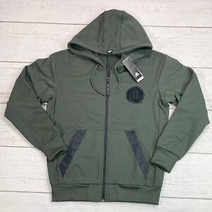 adidas D Rose Hoodie Jacket Green Black EJ7432 Men's Large -Rare- Derrick Rose
