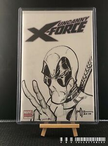 Marvel Uncanny X-force Issue 1 Variant With Handrawn Sketch (2010).