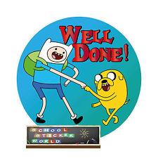 Teacher Reward Sticker 48 30mm  well done not personalised school nappy potty