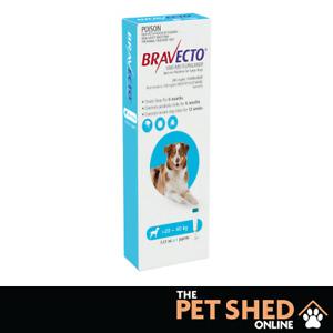 Bravecto Blue SPOT ON Large Dogs 20-40kgs Kills Fleas, Ticks & Mites 1 Pipette