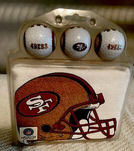 San Francisco 49ers Golf Balls & Towel Set - 3 Logo Balls and 1 Towel
