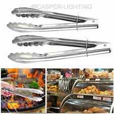 2x Stainless Steel Salad Tong Set BBQ Kitchen Cooking Food Serving Utensil tongs