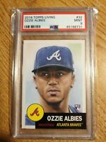 OZZIE ALBIES ROOKIE CARD 2018 Topps Living #32 Graded PSA 9 MINT Atlanta Braves