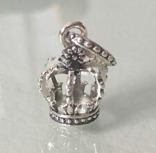 Corona de plata esterlina 925 Encanto Colgante Para Pulseras Y Collar