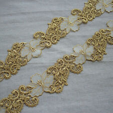 "C184 Metallic Gold Venice Lace Sewing Trim 4/"""