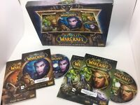 World Of Warcraft Battle Chest Game DVD Rom Burning Crusade & Guides Boxed