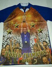 Mens Drako Italy Italia 2006 FIFA World Cup Champion Soccer Jersey Sz L NWOT