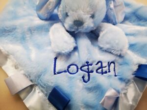 Personalised Baby RABBIT with BOW Comforter  Blankie/Blanket Gift -NEW 2019