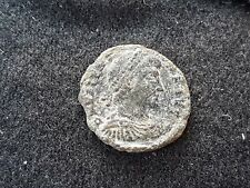 Roman coin of Valentinian ll uncleaned condition found in Britain L45i
