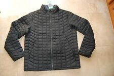 New Black Quilted BEN SHERMAN Zip Front Insulated Jacket XL