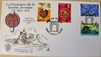 """Jersey Stamps """"Centenary of the Societe Jersiaise"""" First Day Cover 1973"""