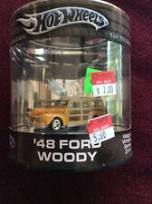 HOT WHEELS (OIL CAN) - WAGON WHEELS SERIES - '48 FORD WOODY- 1/64 Sealed