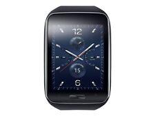 Samsung Galaxy gear S SM-R750 Curved AMOLED Smart Watch Black Wi-Fi Excellent