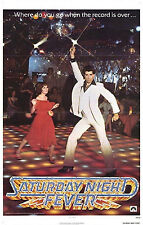 SATURDAY NIGHT FEVER - TRAVOLTA - MOVIE POSTER - DISCO