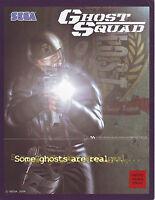 SEGA GHOST SQUAD ORIGINAL OFFICIAL VIDEO ARCADE GAME SALES FLYER BROCHURE 2004