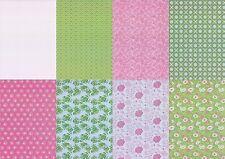 Motiv-Kartenpapier/Karton-TKK 03-verschiedene Muster mit Glimmer-ca.260g -A5