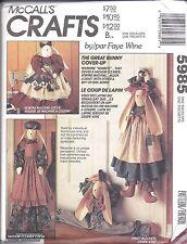 5985 UNCUT McCalls Vintage Sewing Pattern Faye Wine Bunny Vacuum Cover package