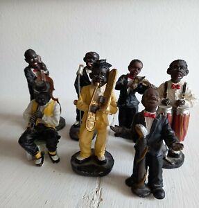 Jazz Musiker Figuren  7 Diverse  Sänger ,Trompete.....
