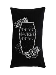 Cushion Coffin Home Sweet Home Rectangular Black 50x30cm