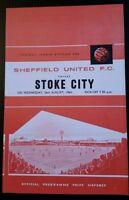 Sheffield United v Stoke City Programme 26/08/64