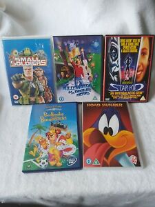 ROAD RUNNER+STAR KID+small Soldiers+willy Wonka+BEDKNOB AND BROOMSTICK(5 DVD)