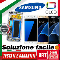 DISPLAY LCD+TOUCH SCREEN+FRAME OLED= ORIGINALE SAMSUNG GALAXY S7 EDGE G935F G935