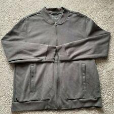 Untuckit Men's Full Zip Jacket Sweater Gray Size XL