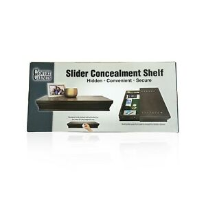Covert Cabinets Sliding wall mounted Cabinet Shelf LOCKS & CONCEALS - Espresso