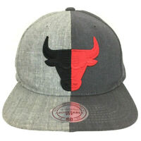 Chicago Bulls Mitchell & Ness Hat Split Half Logo Snap Back NBA Basketball Cap